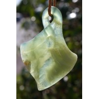 Himalayan Mountain Jade freeform Greenstone leaf